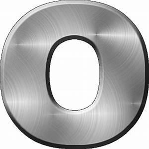 presentation alphabets brushed metal letter o With metal letter o