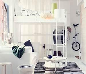 Schlafzimmer Set Ikea : ikea sterreich ein wohn schlafzimmer mit troms hochbettgestell wei mit 3 teiligem tv blad ~ Orissabook.com Haus und Dekorationen
