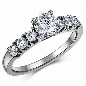 Titanium solitaire engagement wedding ring set bridal for Wedding ring engagement ring set