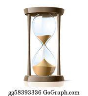 vector illustration cartoon hourglass antique sand