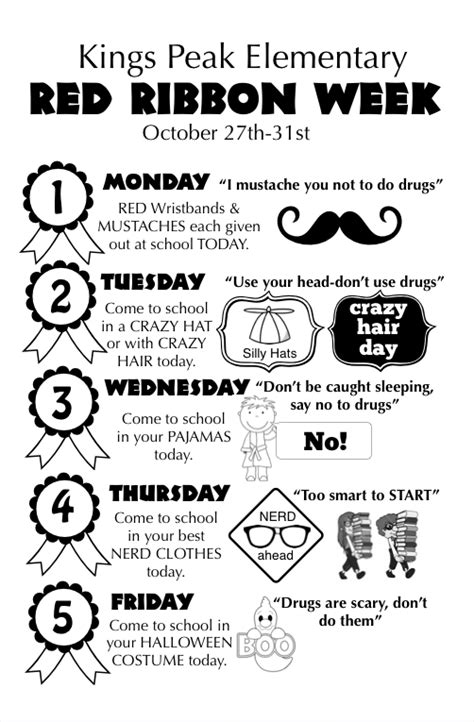 red ribbon week say no to drugs smileifyou rehappy