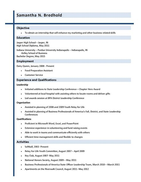 resume objective for promotion exles cover letter