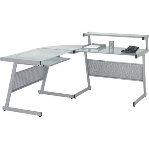 computer desk l shaped glass eurostyle landon l shaped glass top computer desk 2751xa