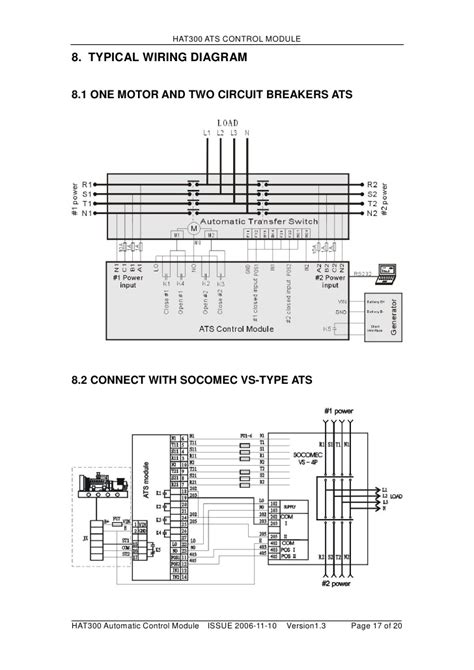 socomec changeover switch wiring diagram 40 wiring