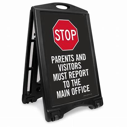 Sign Stop Office Report Visitors Main Valet