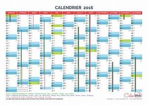 Calendrier Des événements 2016 : calendrier annuel ann e 2016 avec jours f ri s et vacances scolaires ~ Medecine-chirurgie-esthetiques.com Avis de Voitures