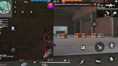 The relevant segment starts around the 2:30 mark in the video below. Juegos free fire música - YouTube