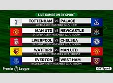 Premier League 1718 TV fixtures released Daily Mail Online