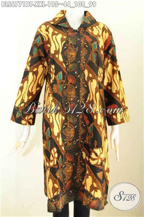 baju batik wanita ukuran jumbo blus batik terusan big