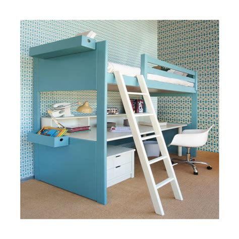 hauteur de bureau lit mezzanine avec bureau liso loft signé asoral