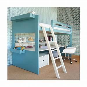 Lit Mezzanine Avec Bureau Liso Loft Sign Asoral