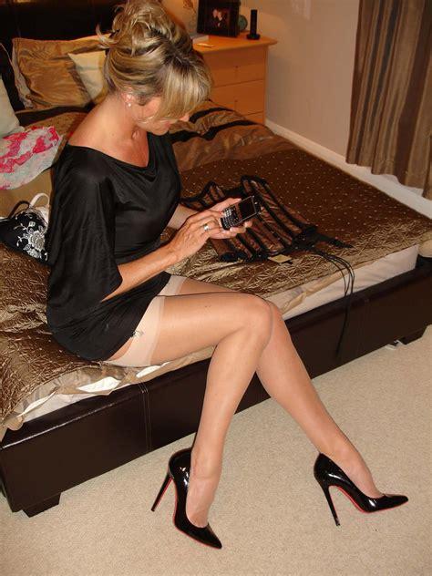 Sexy Blonde Milf In Stockings Porn Photo EPORNER