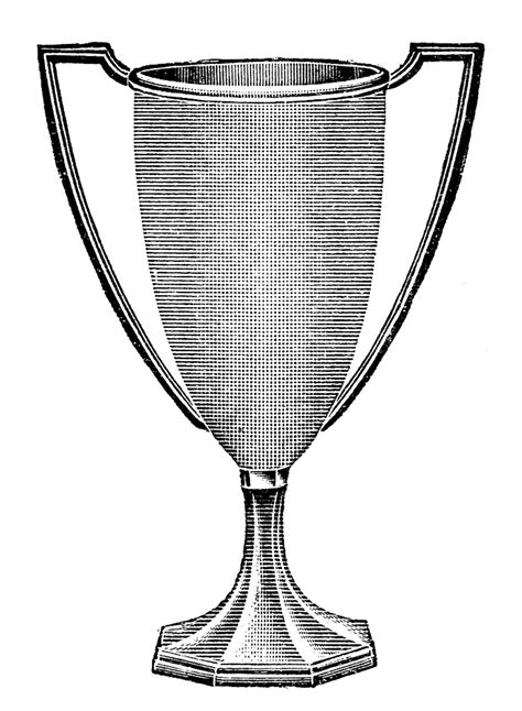 vintage clip art trophy loving cup  graphics fairy