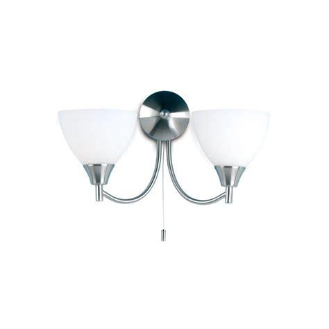 endon lighting 1805 2sc chrome wall light