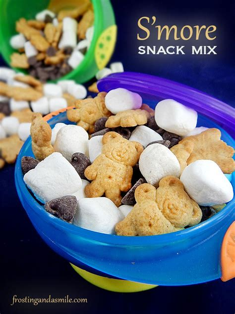 easy s more snack mix is an easy recipe for kids to make