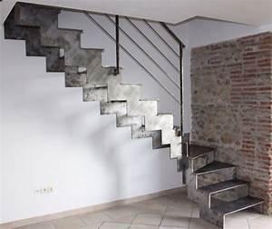 Escalier Exterieur Metal : fabrication d 39 escaliers en fer perpignan ~ Voncanada.com Idées de Décoration