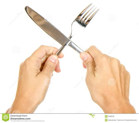 knife  fork  hands stock photography image