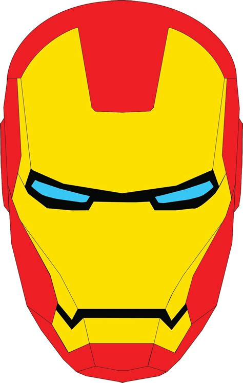 Ironman Mask Template by Iron Iron And Iron