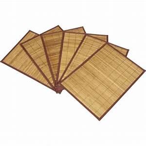 Set De Table Bambou : lot de 6 sets de table en bambou 30 x 45cm achat vente set de table soldes d s le 27 juin ~ Teatrodelosmanantiales.com Idées de Décoration
