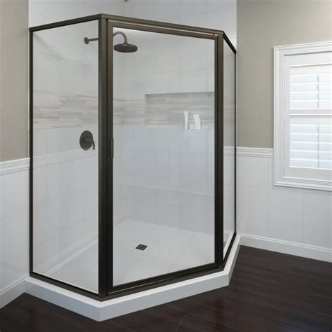 Bathtub Doors Rubbed Bronze by Shop Basco Framed Rubbed Bronze Shower Door At Lowes