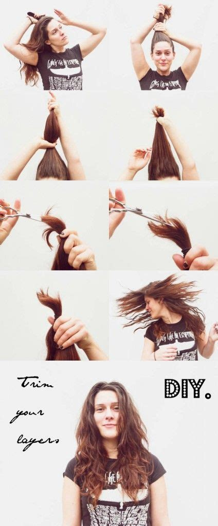 cut   hair  home  regretting  hair diy haircut diy hair trim hair