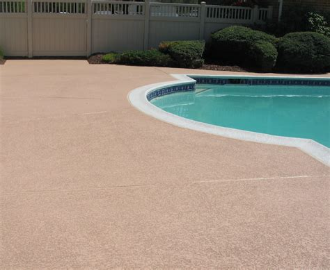 Pool Deck Coating Options by Great Ideas For A New Concrete Pool Deck Sundek Concrete