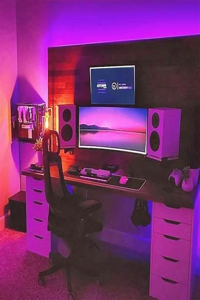 Setup Gaming Anime Gamer Rooms Pc Computer