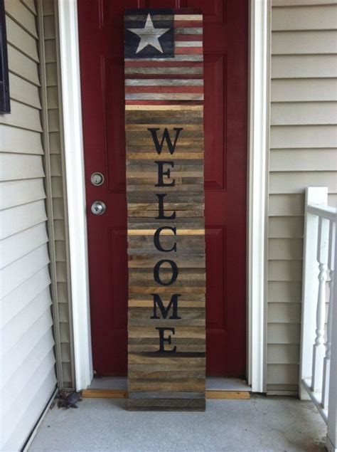 shutter style reclaimed wood pallet tall  sign