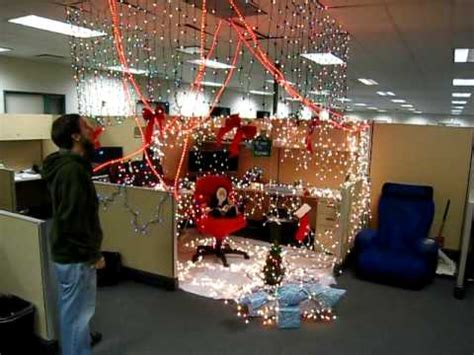 show me christmas decorations for an office mimosa office cubicle prank merry