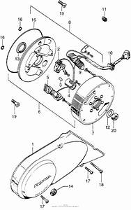 Left Crankcase Cover   Alternator For 0 Honda Z50