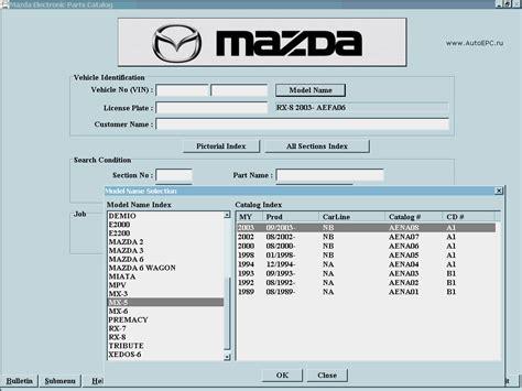 mazad online auto electronic parts catalog mazda epc