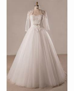 plus size lace tulle ballgown strapless wedding dress with With lace and tulle wedding dress