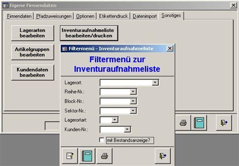 jj software aussenlagerverwaltung lagerverwaltung