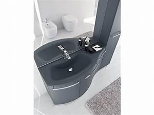 salle de bains comment gagner de la place elle With meuble salle de bain ligne courbe