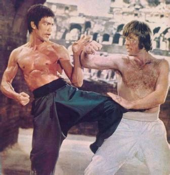 chuck norris and bruce lee fight tune in as history repeats itself quot never back down quot mma