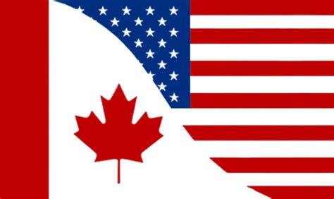canada usa friendship flag