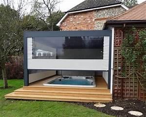 Gartengestaltung mit terrassenuberdachung und gartenpool for Whirlpool garten mit beton balkon sanieren kosten