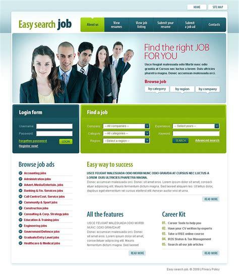 download template prtl job portal website template 22059