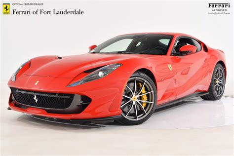 2020 ferrari 812 superfast $374,900 749 miles ferrari of lake forest is proud to present this 2020 ferrari 812 superfast finished in stunning rosso corsa over beige tradizione full leather interior. Certified Pre-Owned 2020 Ferrari 812 SUPERFAST #FC1525   Ferrari of Fort Lauderdale