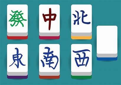 Mahjong Mah Tiles Jong Elements Bing Cartoon
