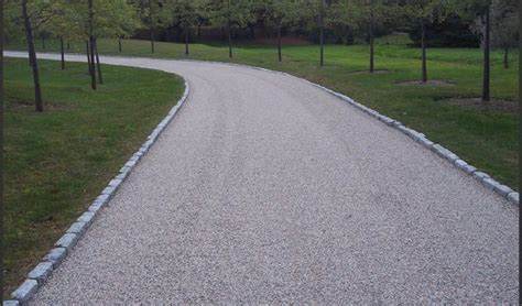 driveway edging materials chip stone driveway with edging driveways pinterest stone driveway the end and overalls