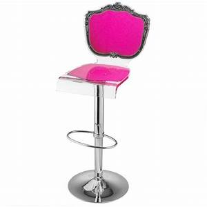 Tabouret De Bar Rose : tabouret de bar r glable acrylique baroque rose mobilier ~ Teatrodelosmanantiales.com Idées de Décoration