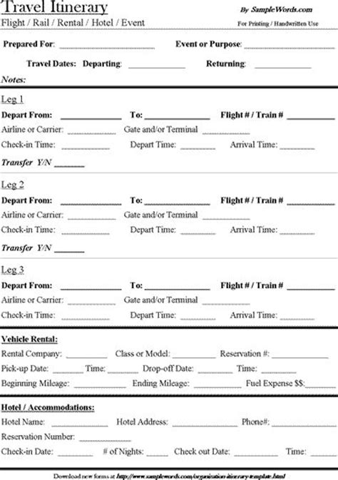 Travel Itinerary Templates For Pages by Best 25 Travel Itinerary Template Ideas On Pinterest