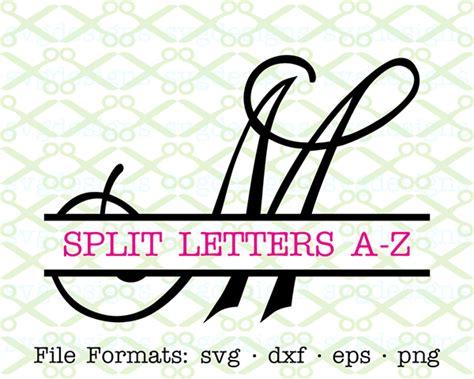 curly script split monogram svg cricut silhouette svg dxf eps png monogramsvgcom  svg designs