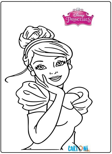 cenerentola disegni da colorare gratis cartoni animati