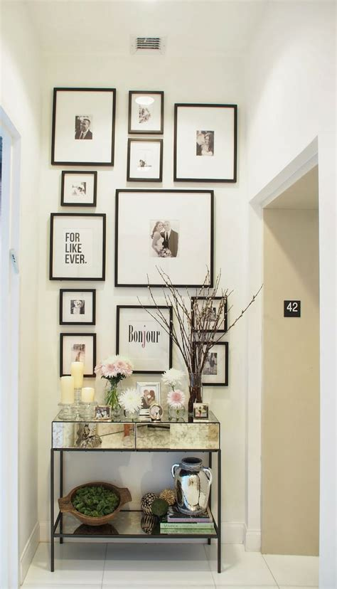 entryway decor gallery wall home