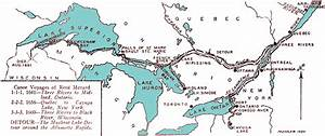 Renu00e9 Menard Map Of The Saint Lawrence And Great Lakes