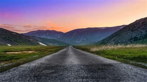 paisaje de colores en la carretera hd  imagenes