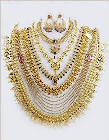exclusive combo wedding gold jewellery set  chungath