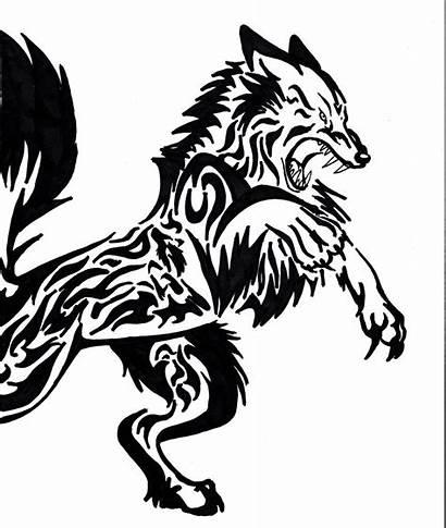 Tattoo Tribal Wolf Tattoos Designs Stencil Werewolf